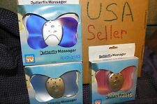 3 New Tens Therapy Butterfly Muscle Massagers Electronic Impulse USA sell w Batt