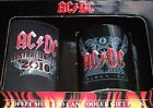 AC/DC 2PC SET GIFT PACK COFFEE MUG CAN STUBBY HOLDER BLACK ICE New AcDc