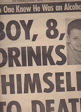National Enquirer December 19 1965 8 Year Old Boy Drinks Himself to Death