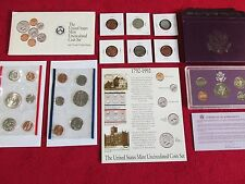 COIN LOT MINT PROOF SETS +90% SILVER 1960 QUARTER NO JUNK DRAWER NO RESERVE #B85