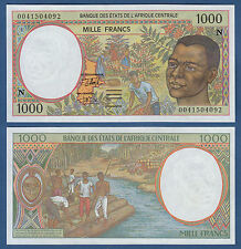 CENTRAL AFRICAN STATES / E.GUINEA 1000 Francs (20)00 UNC P.502N g