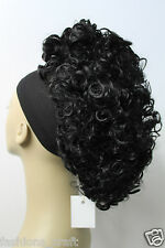 "New Luscious Curly Synthetic Claw Clip Ponytail Hair Piece up do Clipin bun12""UK"