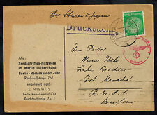1940 Berlin Germany Postcard Cover to Japan via siberia Hilfswerk Martin Luther