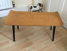 Lovely  Vintage Retro Coffee Table Dansette Legs Light Wood Veneer Top 50'60's