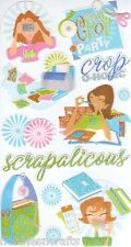 EK SUCCESS STICKO 3-D GLITTER STICKERS PHOTO'S SCRAPBOOK CARDMAKING - CROP PARTY