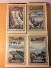 J.R.R TOLKIEN LORD OF THE RINGS TRILOGY & THE HOBBIT Houghton Mifflin 1978
