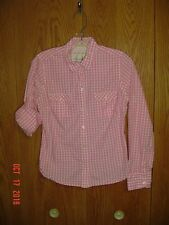 AMERICAN EAGLE OUTFITTERS FAVORITE Tablecloth Plaid Checkered Shirt Size 8 FC227