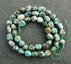 African Africa Turquoise 6x9mm Pebble Potato Nugget Semi-Precious Gemstone Beads