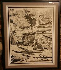 F J DINGLER Boeing 707 Pen and Ink Drawing Reproduction