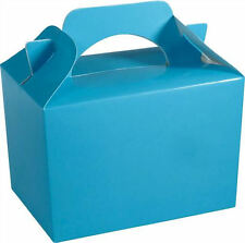 10 Baby Blue Party Boxes - Food Loot Lunch Cardboard Gift Wedding/Kids