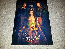 """REIGN PP CAST X2 SIGNED 12""""X8"""" A4 PHOTO POSTER ADELAIDE KANE TOBY REGBO"""