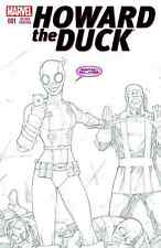 HOWARD THE DUCK 1 VOL 5 RARE 2nd PRINT RON LIM GWENPOOL SKETCH VARIANT PRE-SALE