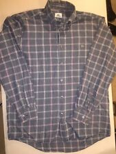 LACOSTE Men's Long Sleeve Plaid Shirt ~ Size 39 (Small/Med) ~ FAST SHIPPING!!