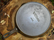"Vintage Wardway No. 9 Cast Iron Skillet 1433 A, Large 11 3/8"" Pan, Clean Useable"