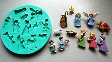 Silicone Mould / NATIVITY CRISTMAS/ Sugarcraft Cake Decorating