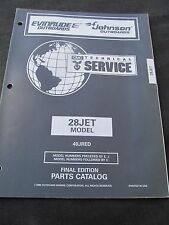EVINRUDE JOHNSON OMC OUTBOARD MOTOR PARTS CATALOG 1996 28JET 40JRED