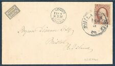 #15L15 ON COVER W/ #11 BLOOD'S DESPATCH FEB 3,1857 HAND STAMPED BQ1328