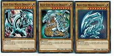 BLUE-EYES WHITE DRAGON Mint 3_Different Artworks CARD SET COMMON 1st LDK2-YUGIOH