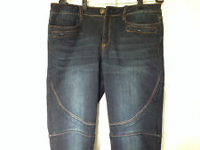 SPOON MOTO SKINNY JEANS  IN DARK BLUE WITH ANKLE ZIPPERS IN JUNIOR SIZE 15 NWOT!