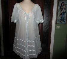 Vtg Intime Double Nylon Peignoir Robe As Or Nightgown Babydoll Negligee Medium
