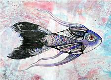 ACEO Fish, Underwater LimitedEditionPrint of Original Painting by Xenia Hahonina