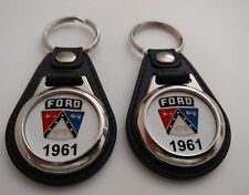 1961 FORD KEYCHAIN 2 PACK FOR GALAXY FALCON STARLINER FAIRLANE F100