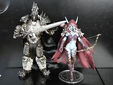 LOT OF 2 World of Warcraft Forsaken Queen Sylvanas Windrunner Arthas Figure SET