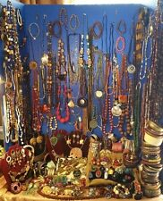 Huge Vintage 200+ pcs Jewelry Lot Boho, Ethnic, Exotic,  Runway, Tribal 14LBS