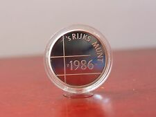 1986 SILVER CAMEO ENCAPSULED PROOF NETHERLANDS COIN