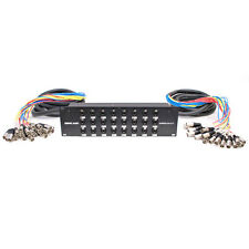 24 Channel XLR TRS Combo Splitter Snake Cable - two 15' XLR trunks Rack Mount
