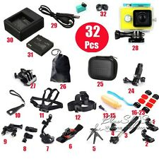 32 in 1 Pack Waterproof Case Head Chest Mount & Accessories For Xiaomi Yi Cámara