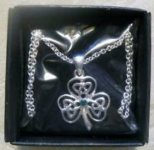 St. Patrick's Day Pendant Necklace LUCKY CLOVER New In Box