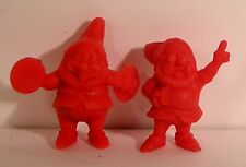 """lot figurines roche aux fées publicitaire """" Blanche neige -les nains B"""" 1970"""