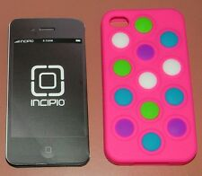 Incipio changeable dot case for iPhone 4/4s, pink  with color dots