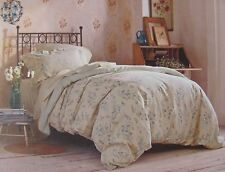NEW SIMPLY SHABBY CHIC VINTAGE FLORAL GARDEN LINEN TWIN DUVET COVER SET & PILLOW