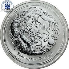 Australien 1 Dollar Silber 2012 Lunar II Serie: Jahr des Drachen Silbermünze 1oz