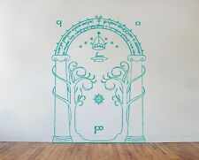 Lord Of The Rings Wall Art Decal Sticker -  Mines of Moria Door LOTR *New Size*