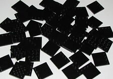 Lego Lot of 50 New Black Tiles Modified 4 x 4 with Studs on Edge Pieces
