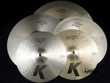 "Zildjian KCD900 K Custom Dark 5 Cymbal Set Pac 20"" Ride 16"" 18"" Crash 14"" Hi Hat"