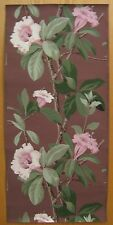 Antique Beautiful Mid 20th C. American Floral  Wallpaper (9019)