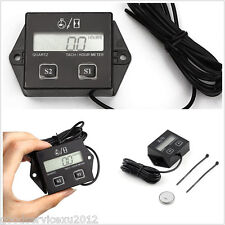 2/4 Stroke Gas Powered Engine Motorcycle ATV Hour Meter Tach Tachometer Tool 12V