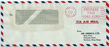 HONG KONG CHINA AIR MAIL Cover METER stamp 1972