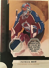 Patrick Roy 16-17 Upper Deck Artifacts Black Dual Patch/Tag SP 1/2 (Very Rare)
