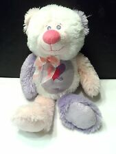 "Plush Teddy Bear Sparkle Stuffed Animal 17"" Pink Purple White The Petting Zoo"