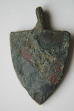 ENGLISH MEDIEVAL HERALDIC SHIELD PENDANT c. 13/15th CENTURY 3 EAGLES