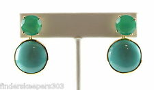 IPPOLITA 18K Yellow Gold Modern Rock Candy Gelato Post Drop Earrings Turquoise