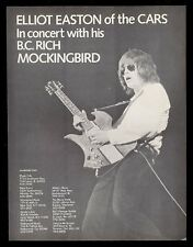 1979 The Cars Elliot Easton photo BC Rich Bich guitar vintage print ad