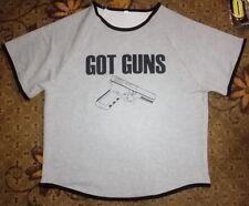 GYM GAUL - GOT GUNS HEAVYWEIGHT RAG TOP (Large) Bodybuilding Fitness Gym