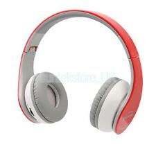 Wireless Bluetooth A2DP Headset Stereo Headphone Earphone for Samsung Red