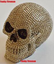 Skull rivets en argent doré faux diamants-gothique cool funky ornement cadeau